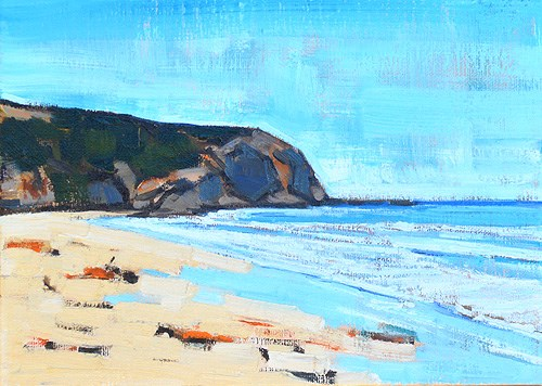 """Monarch Beach Painting, Dana Point"" original fine art by Kevin Inman"