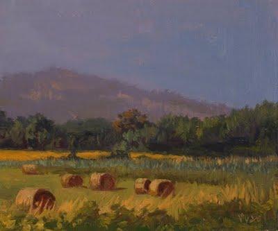 """""""Hay Bales No. 2"""" original fine art by Abbey Ryan"""