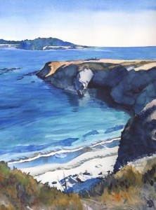 """Sunny Mendocino Headlands"" original fine art by Mariko Irie"