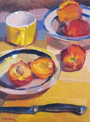 """Peachy Keen"" original fine art by Sarah Sedwick"