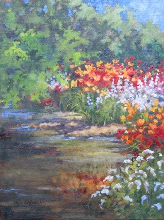 """""""SOLD 'Yellow Breeches Garden' An Original Plein Air Oil Painting by Claire Beadon Carnell"""" original fine art by Claire Beadon Carnell"""