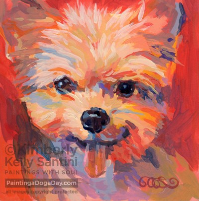 """Oscar"" original fine art by Kimberly Santini"