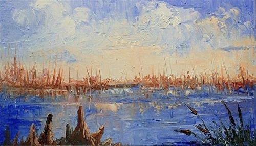 """Bayou View Knife Painting"" original fine art by Barbara Haviland"