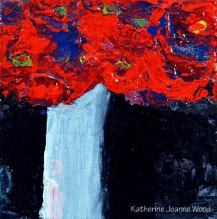 """Flower Series No 73"" original fine art by Katie Jeanne Wood"
