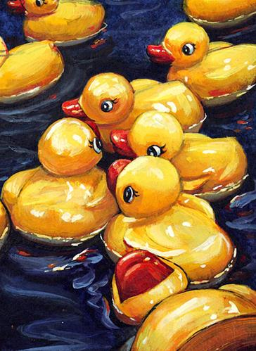 """When Ducks Gossip"" original fine art by Lesley Spanos"