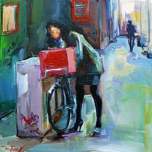 """die Amsterdamerin"" original fine art by Jurij Frey"