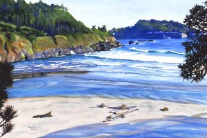 """Peeking Big River Beach"" original fine art by Mariko Irie"