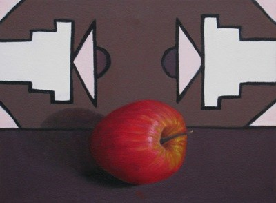 """Ndebele and Apple II"" original fine art by Pera Schillings"