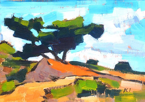 """Torrey Pines Landscape Painting, San Diego"" original fine art by Kevin Inman"