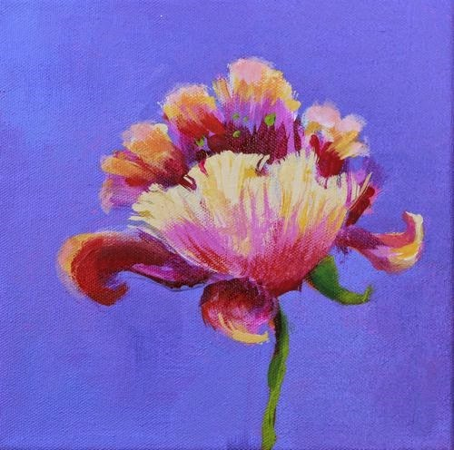 """Flower, Contemporary Floral Paintings by Arizona Artist Amy Whitehouse"" original fine art by Amy Whitehouse"