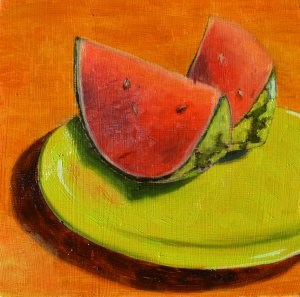 """Watermellon"" original fine art by Robert Frankis"
