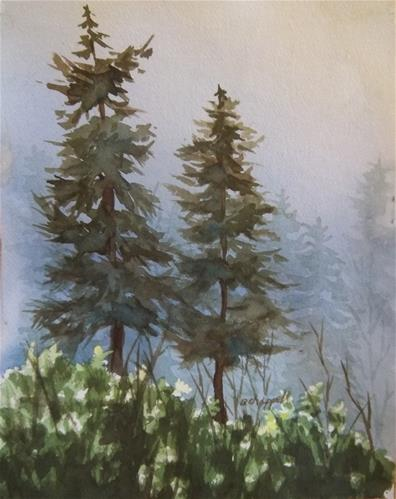 """Forest Mist"" original fine art by Becky Chappell"