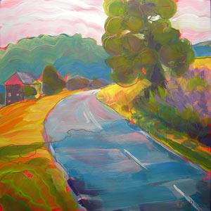 """""""German Highway 1"""" original fine art by Pam Van Londen"""