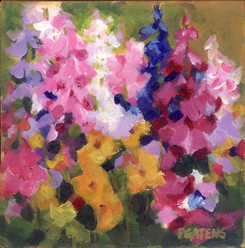 Foxglove Fields original fine art by Pamela Gatens