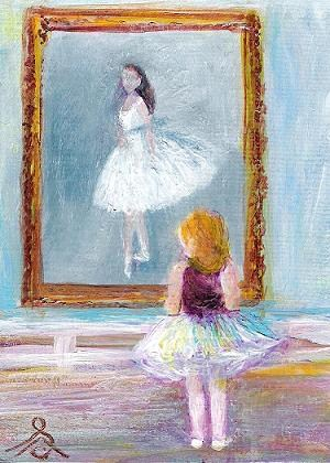 """3052 - LITTLE DANCER - Super Premium ACEO Series"" original fine art by Sea Dean"