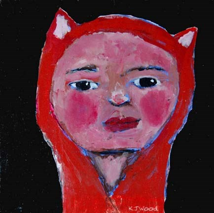 """Little Fox Girl"" original fine art by Katie Jeanne Wood"
