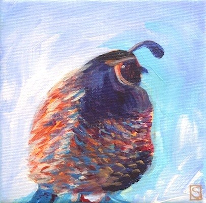 """4098 - Clive Quail"" original fine art by Sea Dean"