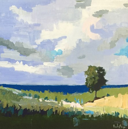 """Tree By the Sea"" original fine art by Pamela Munger"