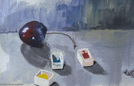 """""""Summer Daily Painting #1"""" original fine art by A.E.E. Miller"""