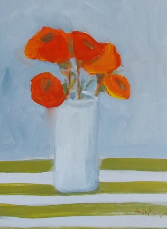 """Orange with Stripes"" original fine art by Pamela Munger"