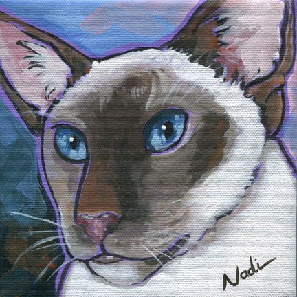 """Siamese"" original fine art by Nadi Spencer"