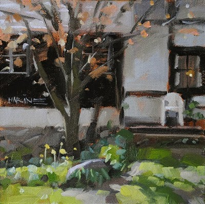 """Front Porch"" original fine art by Carol Marine"