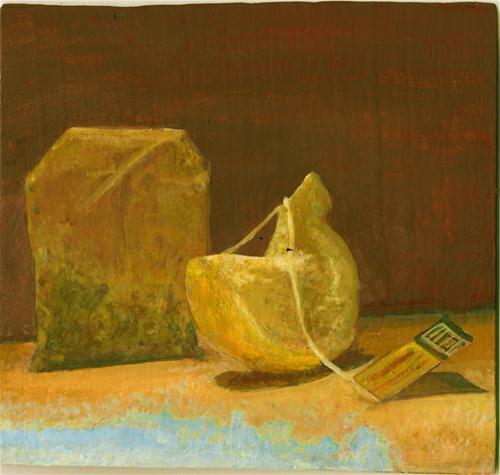 """""""Mike's Tea Bag & Lemon"""" original fine art by Sunny Avocado"""