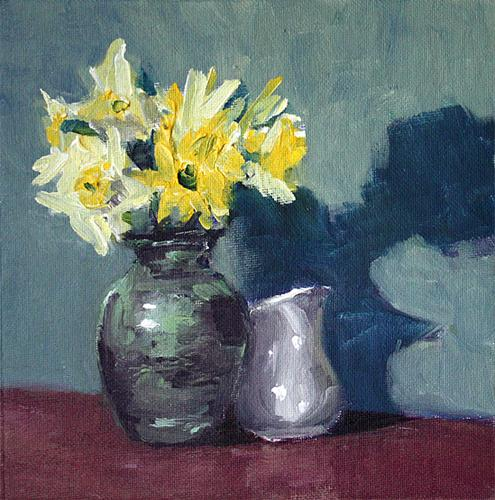 """Daffodils"" original fine art by J. Farnsworth"