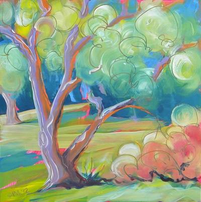 """""""Park Trees 7"""" original fine art by Pam Van Londen"""