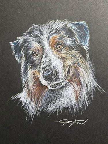 """Sweet Dog"" original fine art by Gabriella DeLamater"