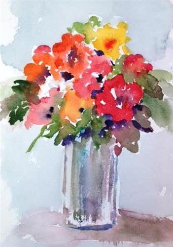 """""""blooming"""" original fine art by Lisa Fu"""