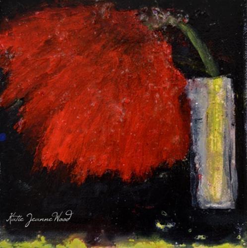 """Floral No 248"" original fine art by Katie Jeanne Wood"