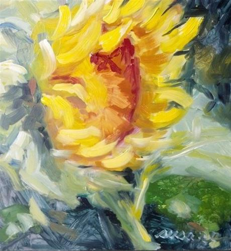 """Texada Sunflower"" original fine art by Susan Elizabeth Jones"
