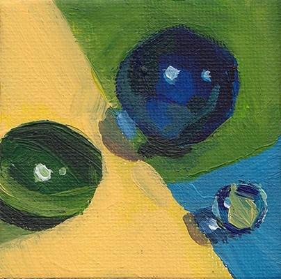 """Tiny Marbles"" original fine art by J M Needham"