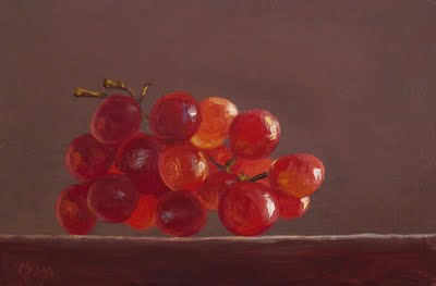 """Red Grapes in the Sun"" original fine art by Abbey Ryan"