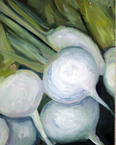 """White Radishes"" original fine art by Kristen Dukat"