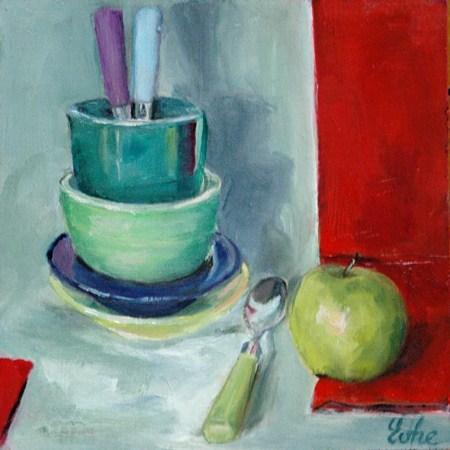 """Bol vert"" original fine art by Evelyne Heimburger Evhe"