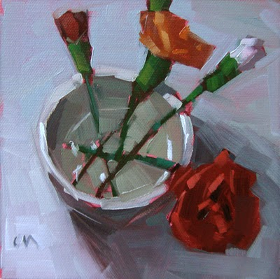 """Carnation Cup --- SOLD"" original fine art by Carol Marine"