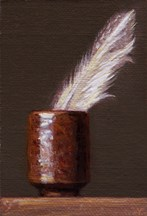 """""""Seagull Feather in a Japanese Cup"""" original fine art by Abbey Ryan"""