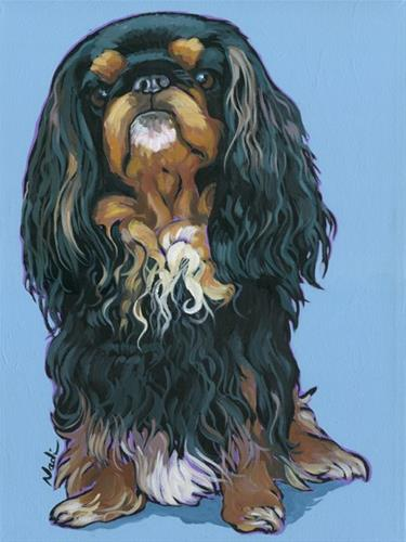 """King Charles Spaniel"" original fine art by Nadi Spencer"