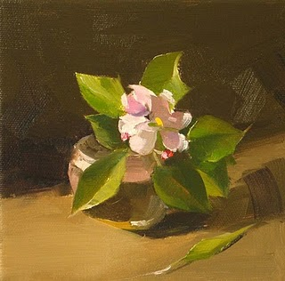 """Apple Blossom"" original fine art by Qiang Huang"