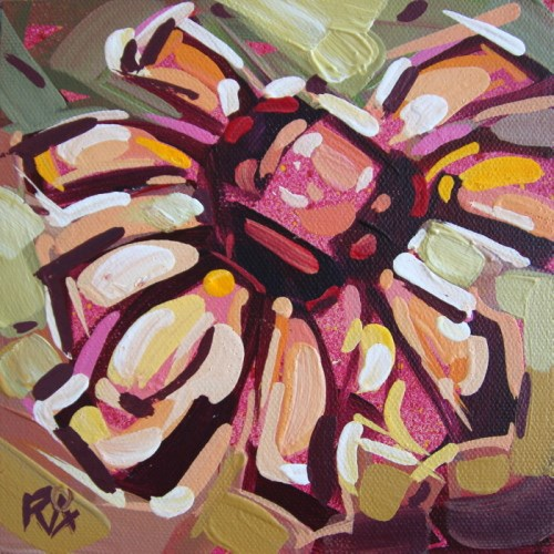 """Flower Abstraction 207"" original fine art by Roger Akesson"