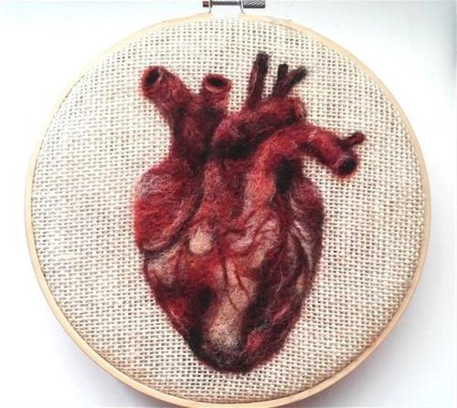 """Human Heart"" original fine art by Camille Morgan"
