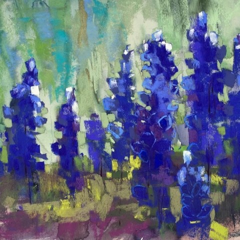 """Bluebonnets! Our Hill Country Workshop"" original fine art by Karen Margulis"