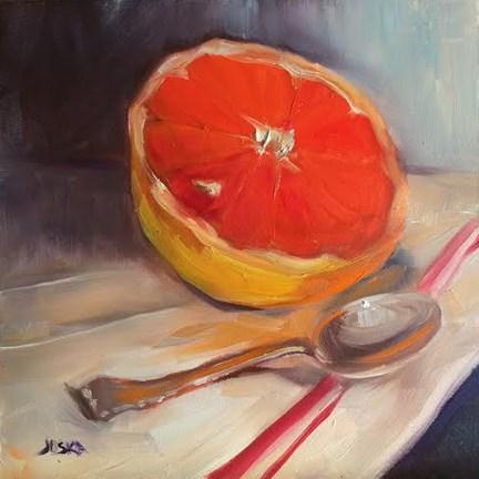 """""""Grapefruit"""" original fine art by Elaine Juska Joseph"""