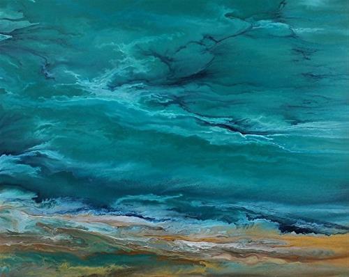 """Contemporary Abstract Seascape Art Painting, Coastal Art,Coastal Decor In Motion II by Internation"" original fine art by Kimberly Conrad"