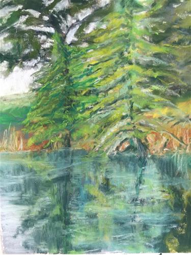 """Our Pond"" original fine art by Mary Weil"