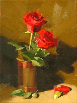 """""""Forever Valentine"""" original fine art by Qiang Huang"""