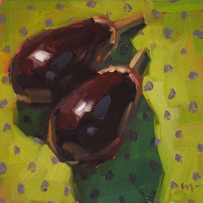 """Eggplant Excursion"" original fine art by Carol Marine"