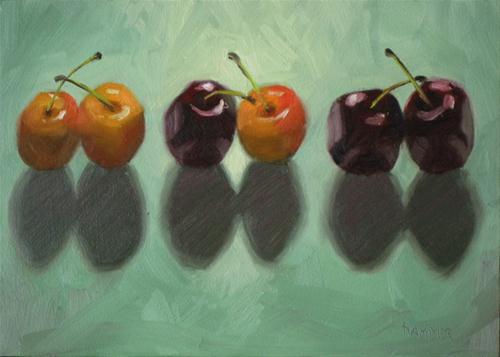 """Twin sets 7x5 oil"" original fine art by Claudia Hammer"